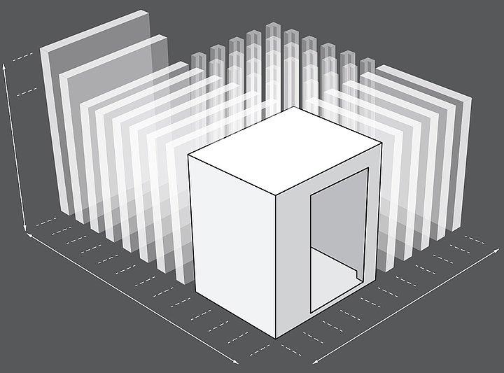 Modulární konstrukce Walk in korozní komory Ascott